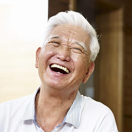 senior man with a big smile