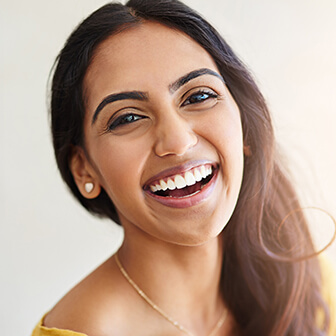 woman with a beautiful, white smile